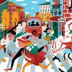 Выразительная иллюстрация Евдокии Гасумян и ее легкие, динамичные рисунки